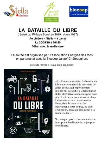 Projection Débat - LA BATAILLE DU LIBRE